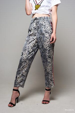 PANTALONES Strip long pants estampados